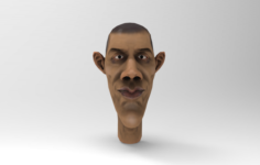 Obama Caricature 3D Model