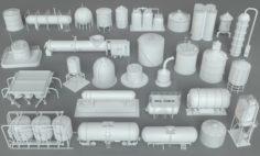 Industrial Tanks – 29 pieces 3D Model