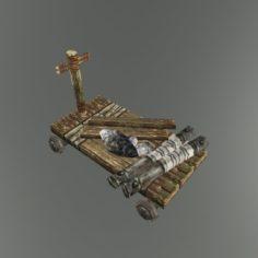 Medieval Transport cart 01 3D Model