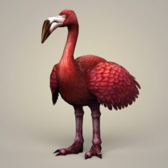 Fantasy Flamingo Bird 3D Model