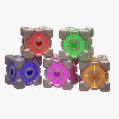 Portal Cube 02 3D Model