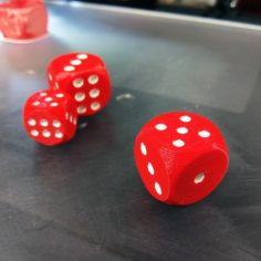 Dice – Dual Color 3D Print Model