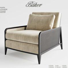 Baker NAPA LOUNGE CHAIR 3D Model