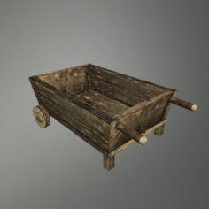 Medieval wheel cart 3D Model