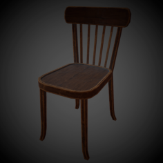 USSR Chair PBR Low Poly 3D Model