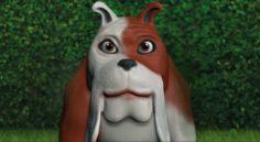 Cartoon bulldog 3D Model
