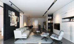 Apartment full rooms 3D scene 3D Model