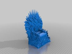Game of Thrones – Iron Throne – Cell Phone Holder 3D Print Model