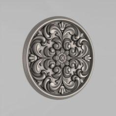 Carved rosettes decor 54 3D Model