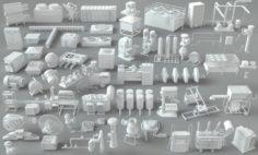 Factory Units-part-2 – 57 pieces 3D Model