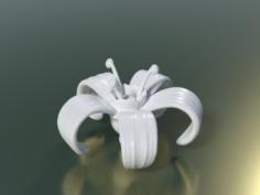 Flower print ready 3D Model