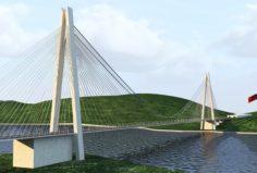 Yavuz Sultan Selim Koprusu YSS Istanbul Bridge 3D Model