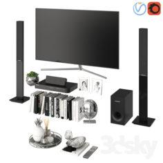 Living Room Silver                                      3D Model
