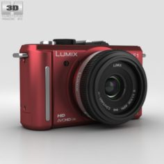 Panasonic Lumix DMC-GF1 Red 3D Model
