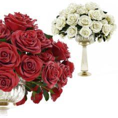 Roses in a vase 3D Model