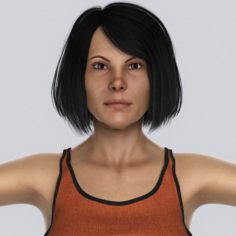 Beautiful Middle Age Woman 3D Model