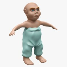Child 002 LOWPOLY – TOPOLOGY Not Rigged 3D Model