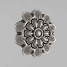 Carved rosettes decor 15 3D Model