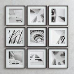 Picture Frames Set -3 3D Model
