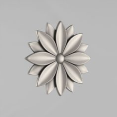 Carved rosettes decor 44 Free 3D Model