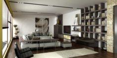 LH LivingRoom 2 option 3D Model