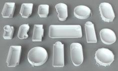 Pools – 17 pieces 3D Model