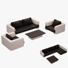 Sofa Set 04 3D Model