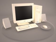 Old PC Compaq deskpro 6 3D Model