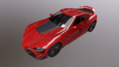 Toyota Supra FT-1 LOW poly 3D Model