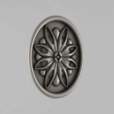 Carved rosettes decor 50 3D Model