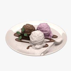 Ice Cream 01 3D Model