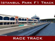 Istanbul Park Racing Circuit Track 3D Model