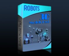 Rigged Robots Collection 3D Model