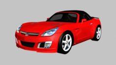 2007 Saturn Sky Red Line 3D Model