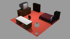 Bedroom Asset Pack 3D Model