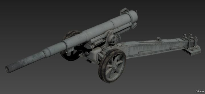 Canon De 155mm GPF 3D Model