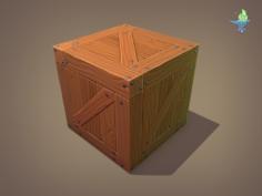 Wood Crate Free 3D Model