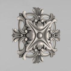 Carved rosettes decor 43 3D Model