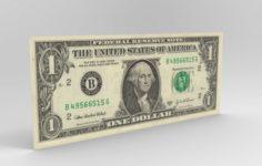 One dollar 3D Model
