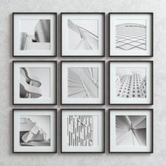 Picture Frames Set -4 3D Model