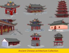 Ancient chinese building pack 3D Model