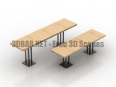 Formdecor Twin Peaks Bar Table Dining Table 3D Collection