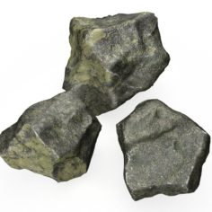 Rock 3 Type Boulder 3D Model