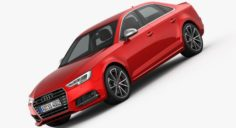 Audi S4 2016 detailed interior 3D Model