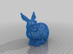 Voronoi Easter bunny fixed with opening 3D Print Model