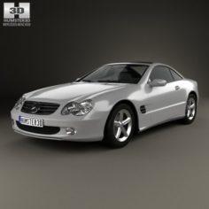 Mercedes-Benz SL-Class R230 2001 3D Model