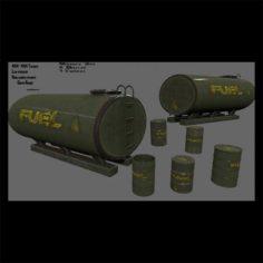 Fuel tanker set 3D Model