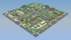 China town city block 3D Model
