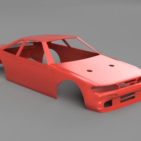 Zenki S14 240sx Body for 3DRC 1/24 Drift Car 3D Print Model - 3DHunt co