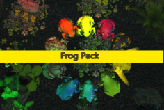 Frog pack VR 3D Model